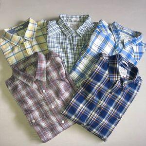 Lucky Brand 5x Button Down Shirt BUNDLE - Medium